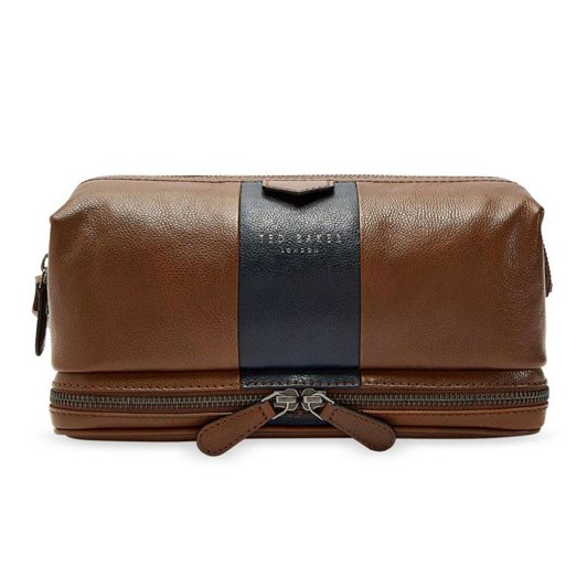 Ted Baker Striped Leather Washbag
