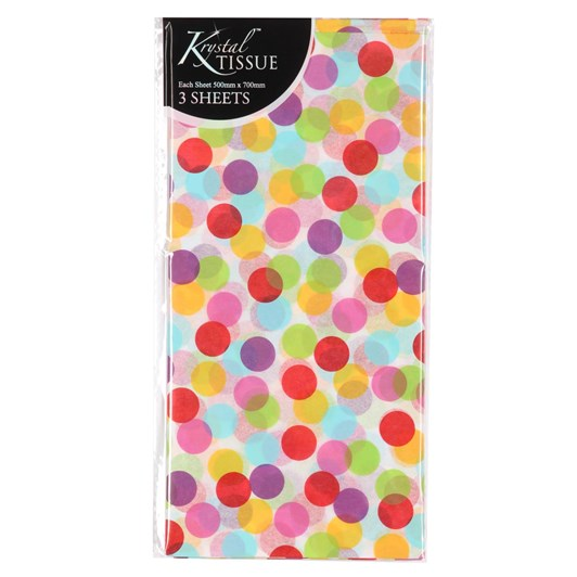 Printed Confetti Tissue Packs