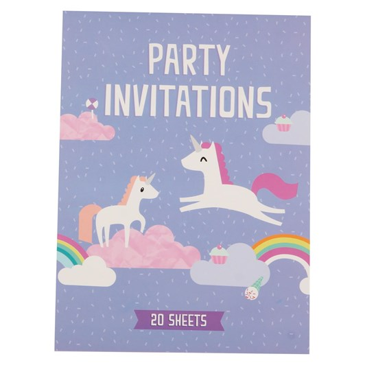 Unicorn Padded Invitation