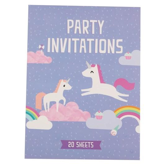 Unicorn Padded Invitation