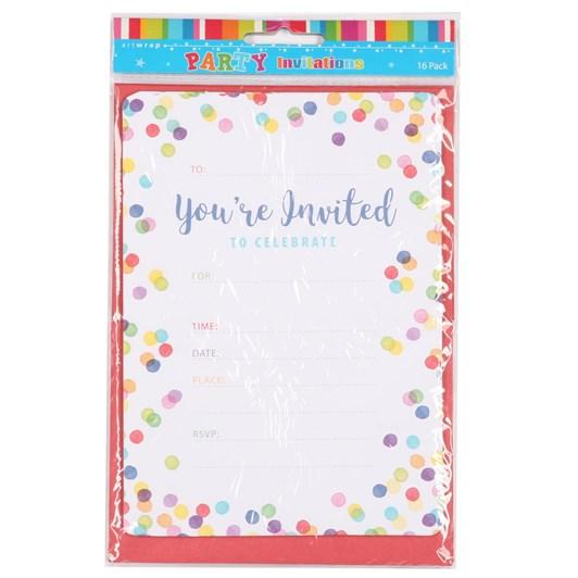 Confetti Party Invitation Set