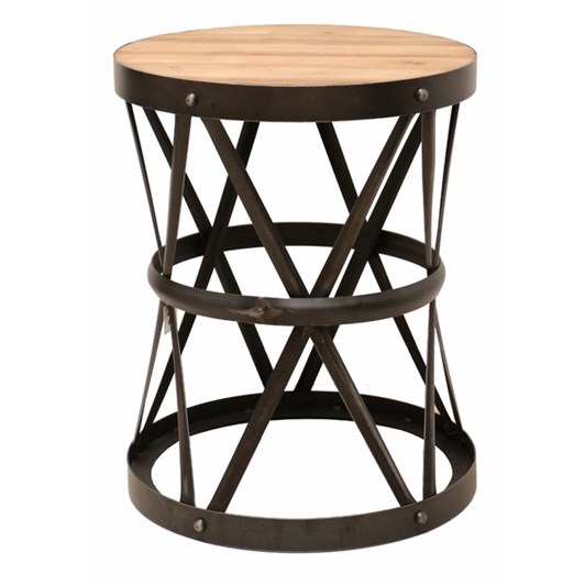 CC Interiors Drum Style Occasional Table