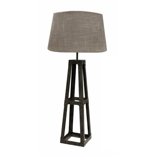 CC Interiors Grey Washed Metal Pyramid Table Lamp