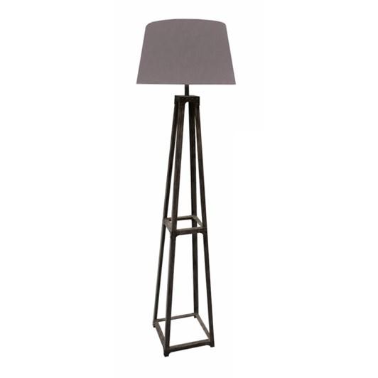 CC Interiors Grey Washed Metal Pyramid Floor Lamp