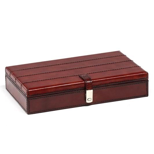 Leather Rectangle Box 26X15X5Cm