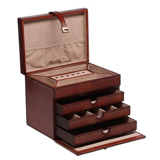 Leather Jewellery Box 19X16X18.5Cm