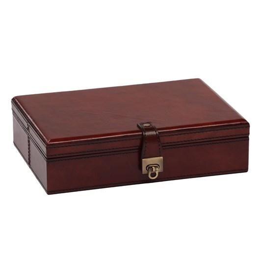 Leather Jewellery Box 25.5X18X6Cm