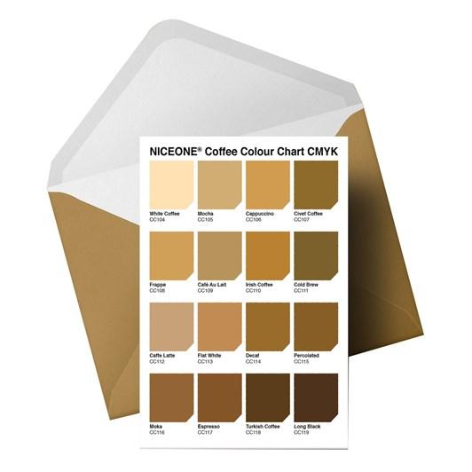 Little Paper Hugs The Colours Of Caffeine Colour Chart Card