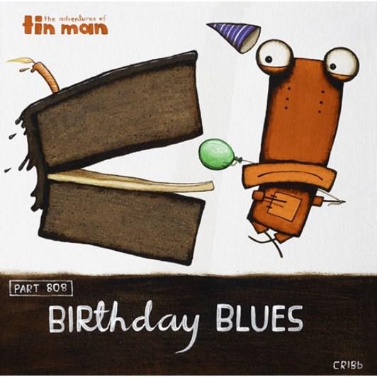 Birthday Blues Notecard