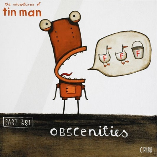 Tony Cribb Obscenities Notecard