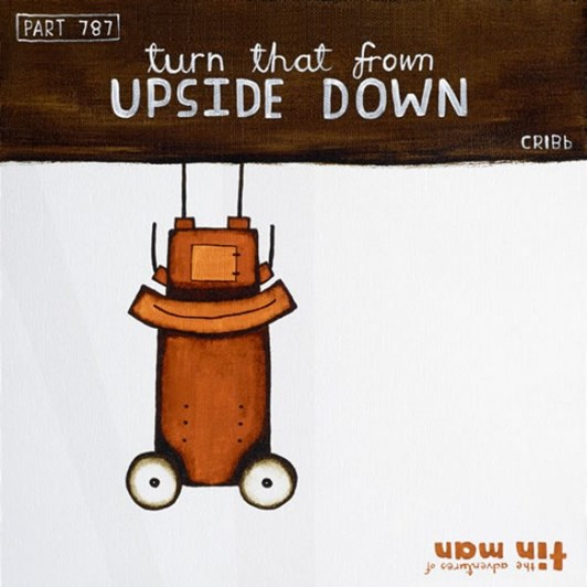 Tony Cribb Turn That Frown Upside Down Notecard