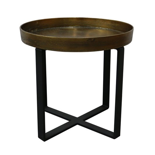 Manhattan Side Table Brass Antique