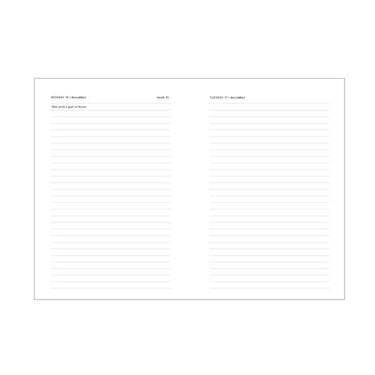 An Organised Life 2020 Daily Planner - Gold