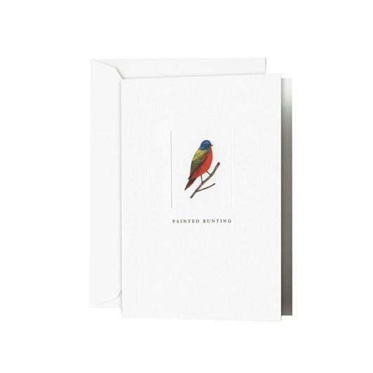 Crane & Co Debossed Painted Bunting Notecards, 10 Cards & Envelopes