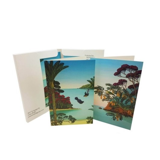 Clare Reilly Fantails Herald Of Spring Notelet