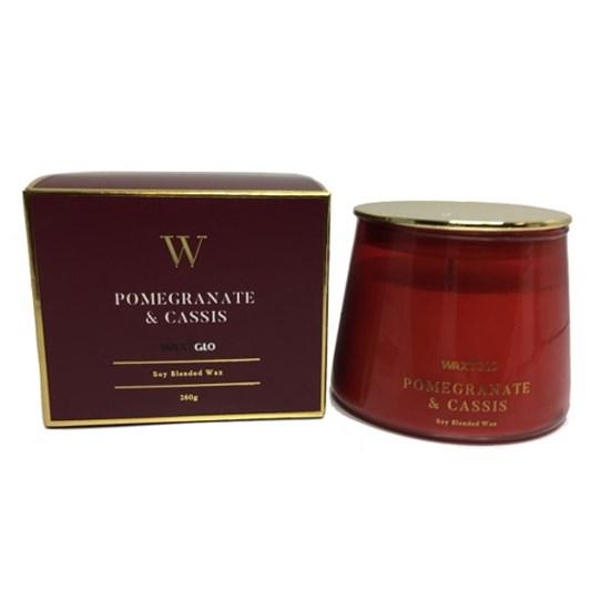 Waxglo W Scented Jar 260g Pomegranate & Cassis