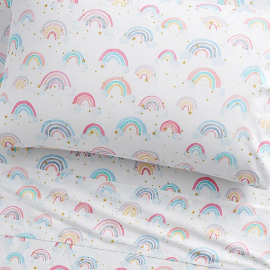 Pottery Barn Kids Organic Rainbow Cloud Sheet Set