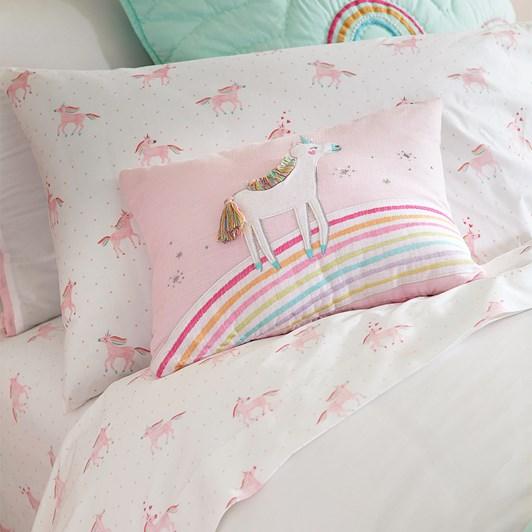 Pottery Barn Kids Organic Unicorn Rainbow Sheet Set