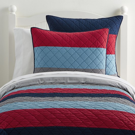 Pottery Barn Kids Block Stripe Quilt Range