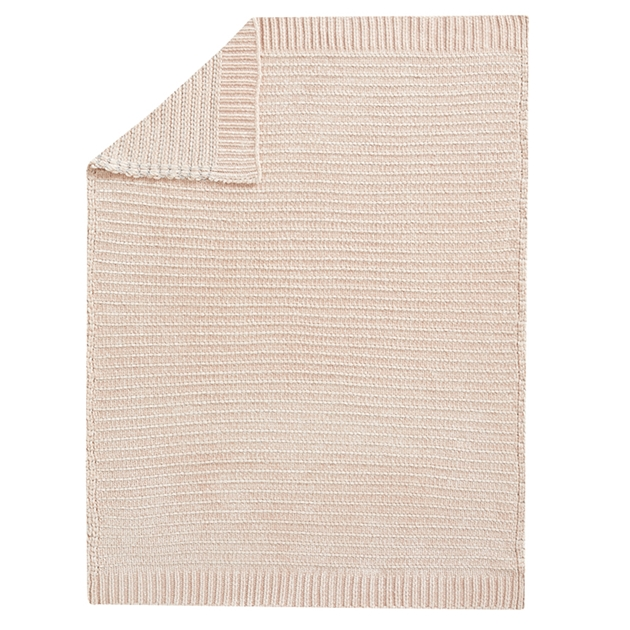 Pottery Barn Kids Chenille Metallic Baby Blanket - blush gold