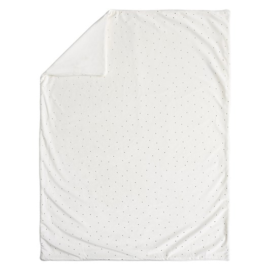 Pottery Barn Kids Metallic Dot Chamois Baby Blanket