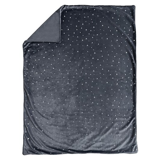 Pottery Barn Kids Metallic Star Chamois Baby Blanket