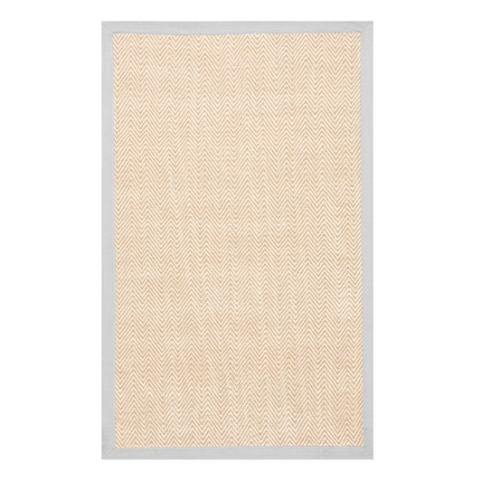 Pottery Barn Kids Chenille Jute Thick Solid Border Rug Grey 3' x 5'
