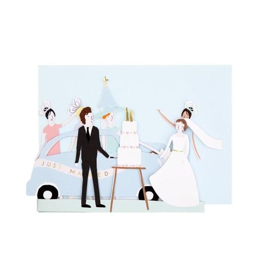 Meri Meri Just Married Concertina Card