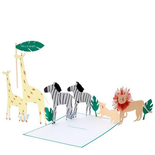 Meri Meri Safari Baby Concertina Card