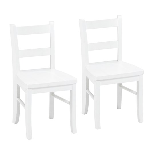 Pottery Barn Kids My First Chair Set of Two Simply White Wb