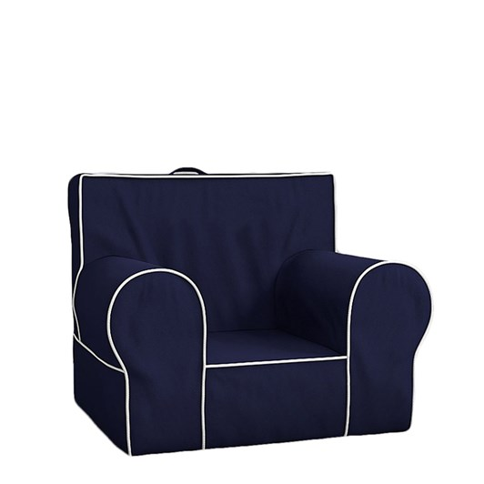 Pottery Barn Kids Anywhere Chair Navy With White Piping