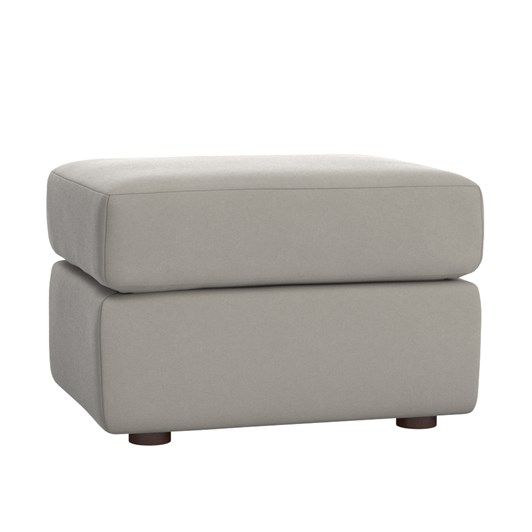 Pottery Barn Kids Graham Ottoman Velvet Dove Gray