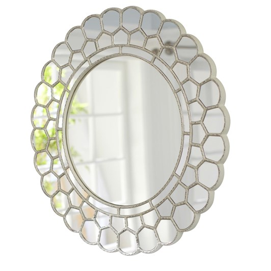 Pottery Barn Kids Circle Blossom Mirror Simply White
