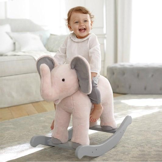 Pottery Barn Kids Monique Lhuillier Plush Rocker- Elephant