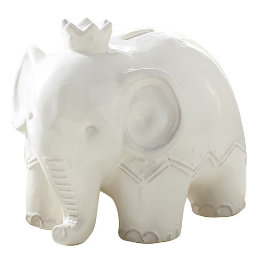 Pottery Barn Kids Elephant Bank- Ivory