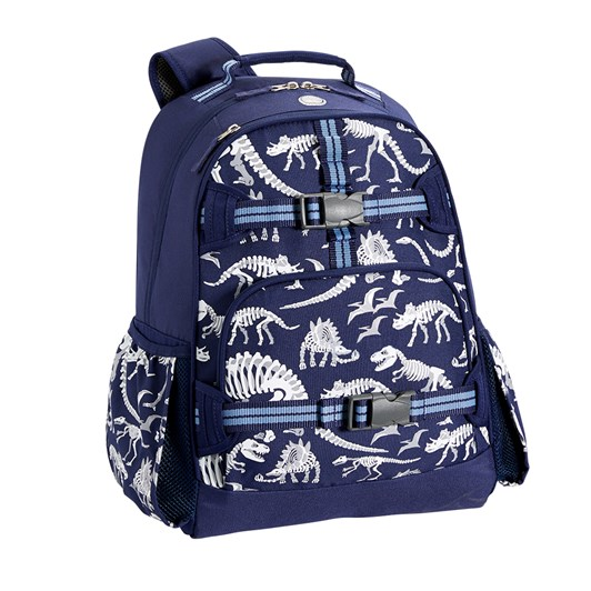 Pottery Barn Kids Mackenzie Backpack Blue Grey Dino Gid