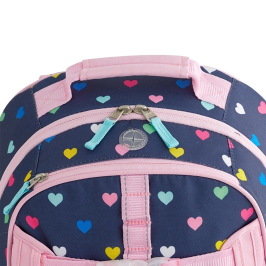 Pottery Barn Kids Mackenzie Backpack Navy Pink Multi Hearts
