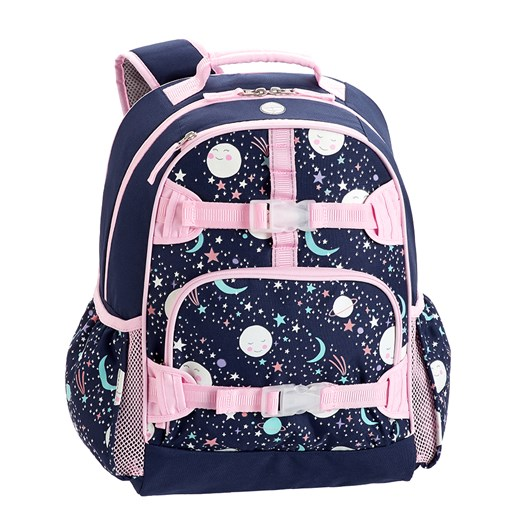 Pottery Barn Kids Mackenzie Backpack Pink Navy  Moons Gid