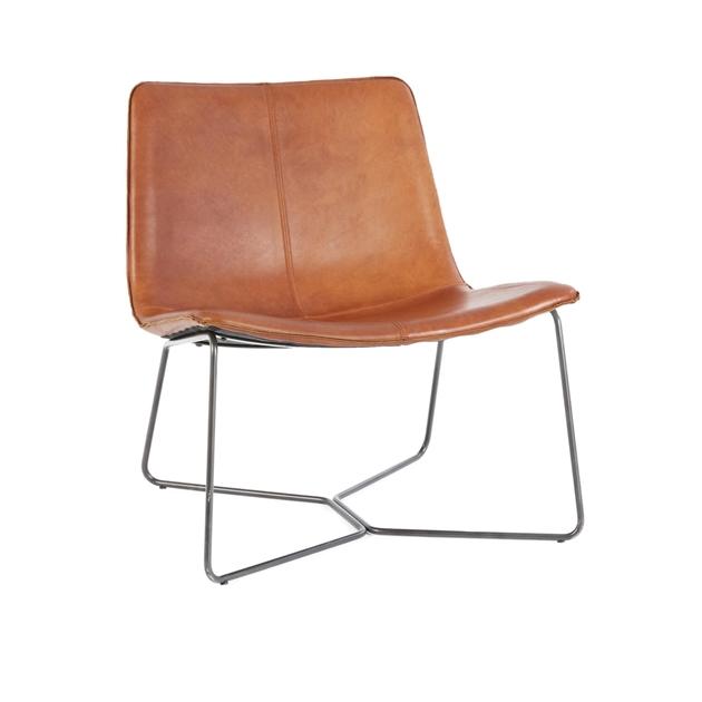 West Elm Slope Lounge Chair - saddle