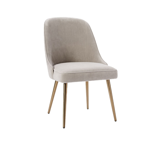 West Elm Mid-Century Dining Chair, Dove Grey - grey