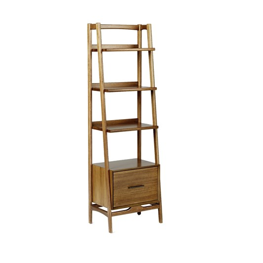 West Elm Mid Century Bookcase (Narrow) Acorn