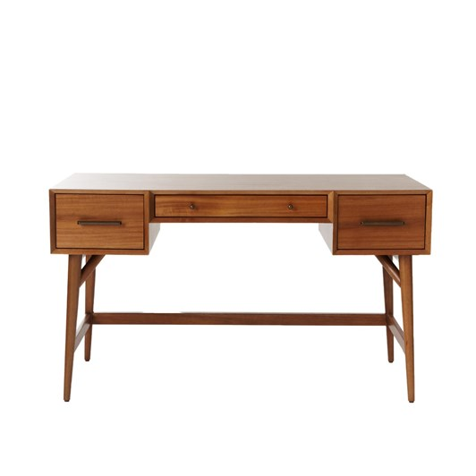 West Elm Mid Century Desk:Acorn
