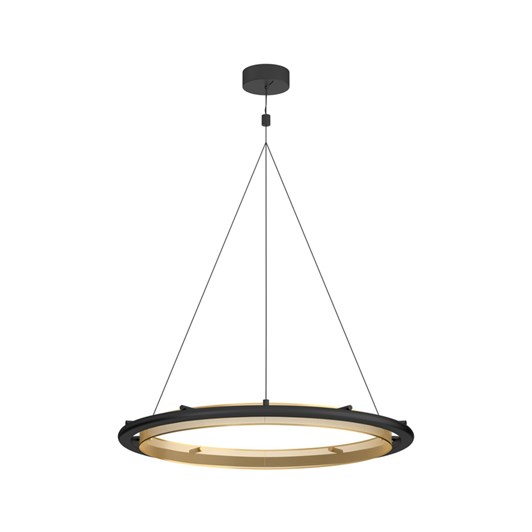 West Elm Hoop LED Chandelier Bronze
