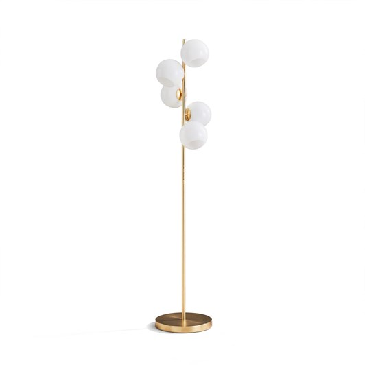 West Elm Staggered Glass 5-Lt Floor Lamp