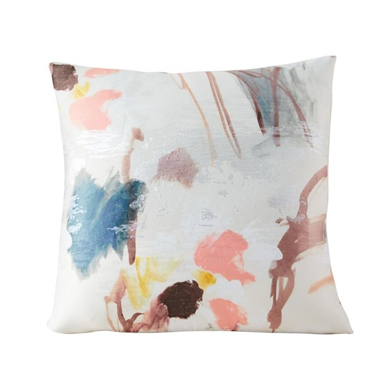 West Elm Gilded Watercolor Brocade Pillow Cover