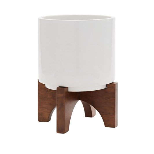 West Elm Turned Wood Tabletop Planters