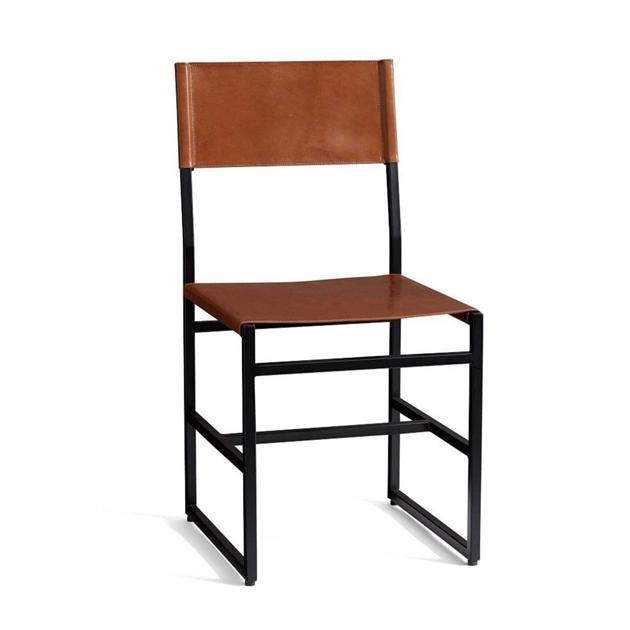 Pottery Barn Hardy Dining Chair - bronze tan