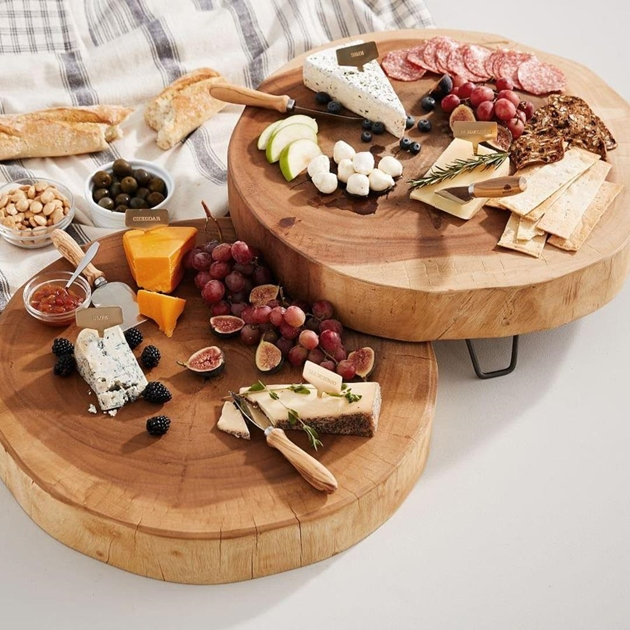 Pottery Barn Pottery Barn Wood Slab Cheese Serve Board