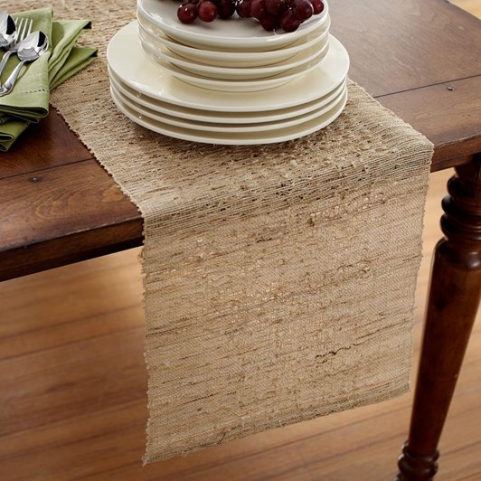 Pottery Barn Nubby Hemp Table Runner