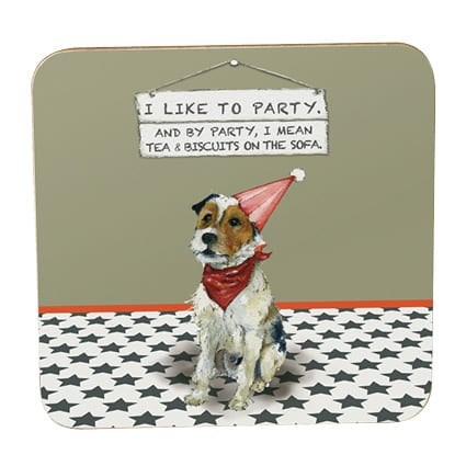 Little Dog Laughed Party Animal Coaster